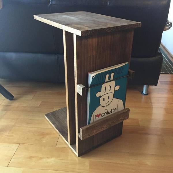 セルフリノベーションしたサイドテーブル