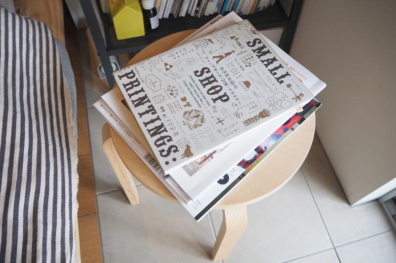 サイドテーブル代わりの椅子
