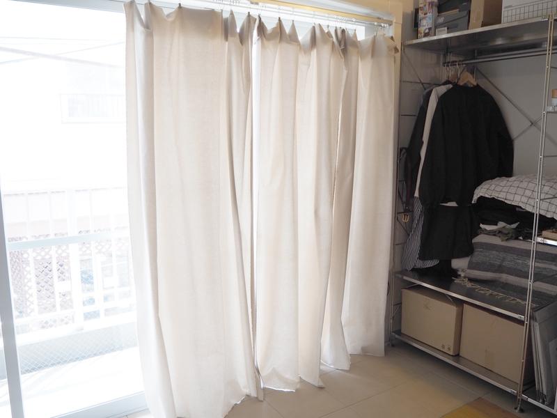 自身でDIYしたカーテン