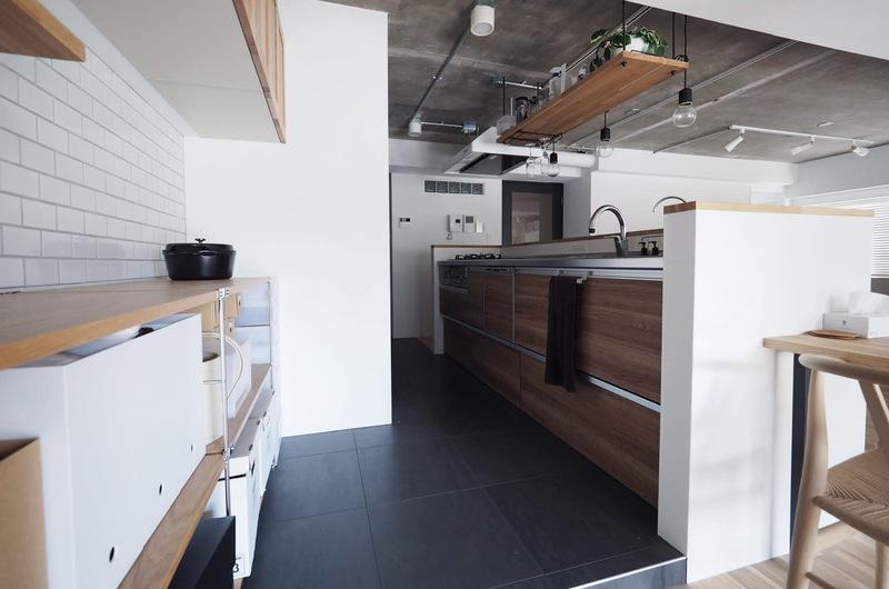 高さのあるキッチン