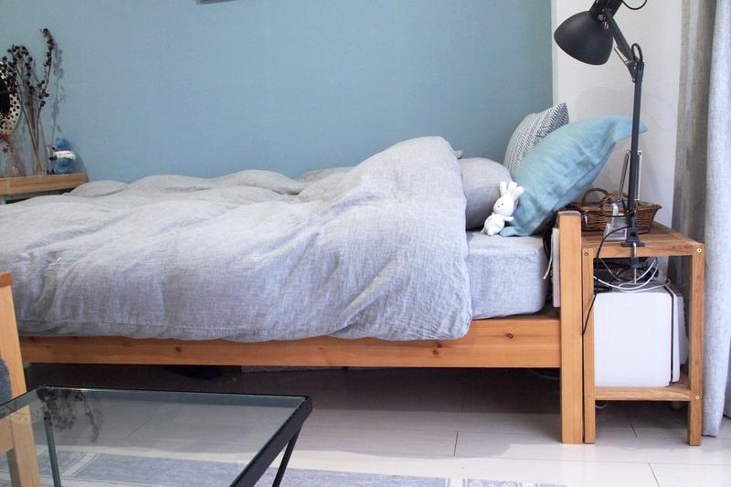 ナチュラルテイストなベッド