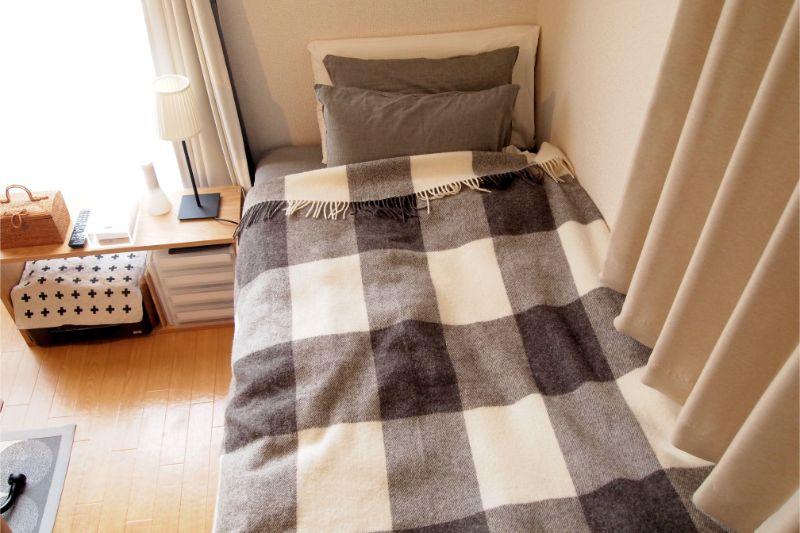 高さのあるベッド