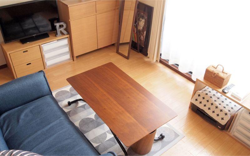 デザインと使用目的を考えたテーブル