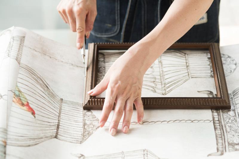 壁紙を大まかに切る