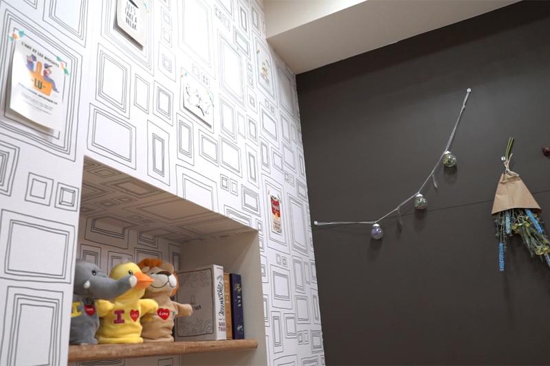 DIY完成後の壁の写真