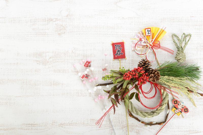 しめ縄リースでお正月飾りが華やかに