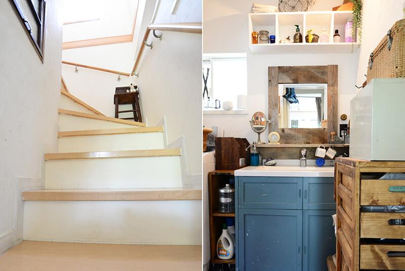 階段と洗面所のDIY