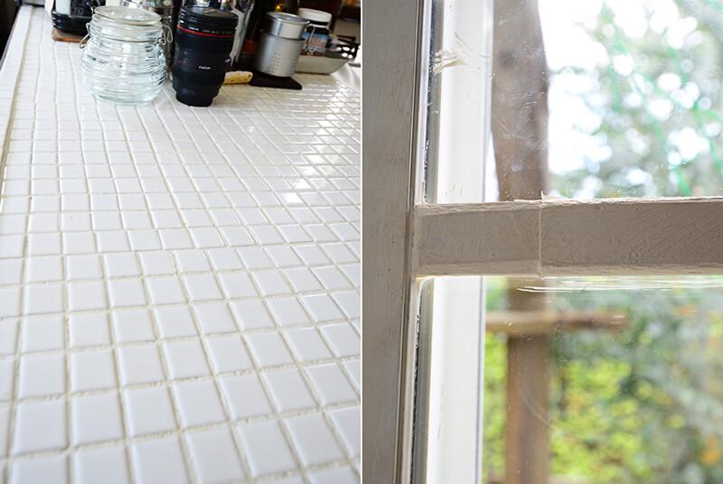 キッチンタイルと窓枠DIY