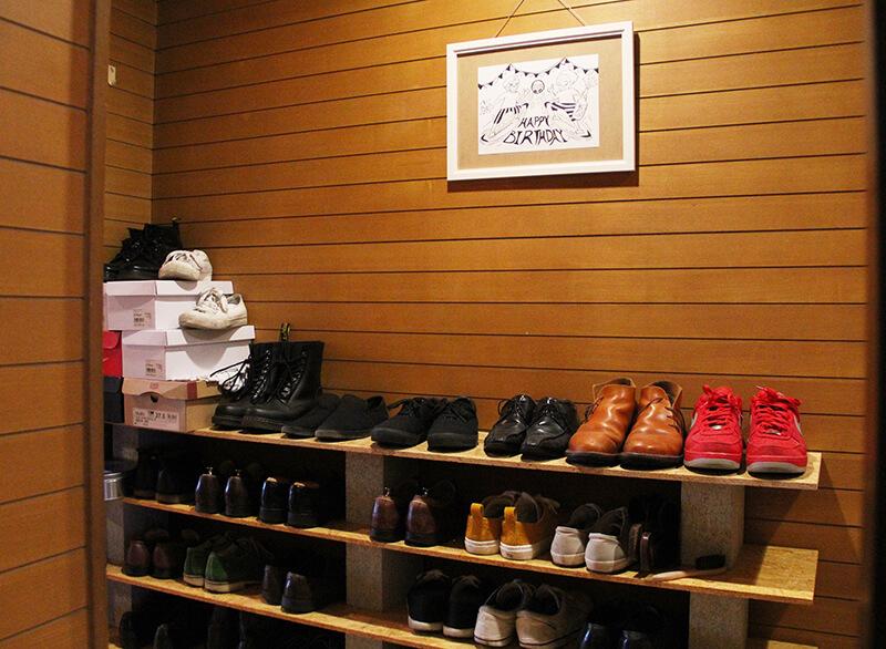 ブロックで作る靴箱