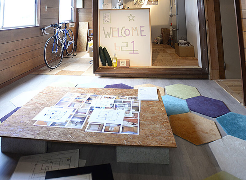 床とテーブル