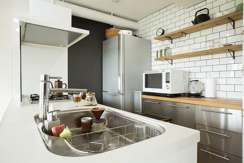 サブウェイタイルを使ったキッチン