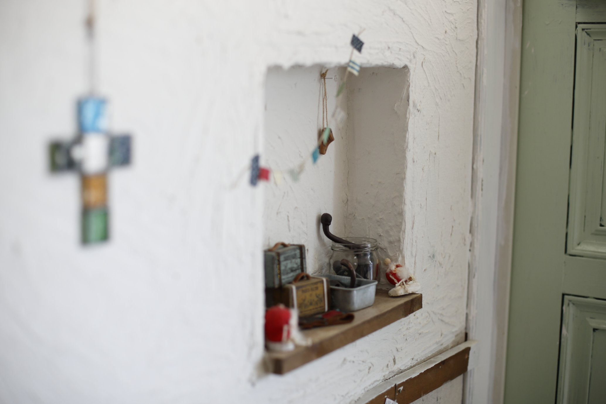 玄関の小物置き