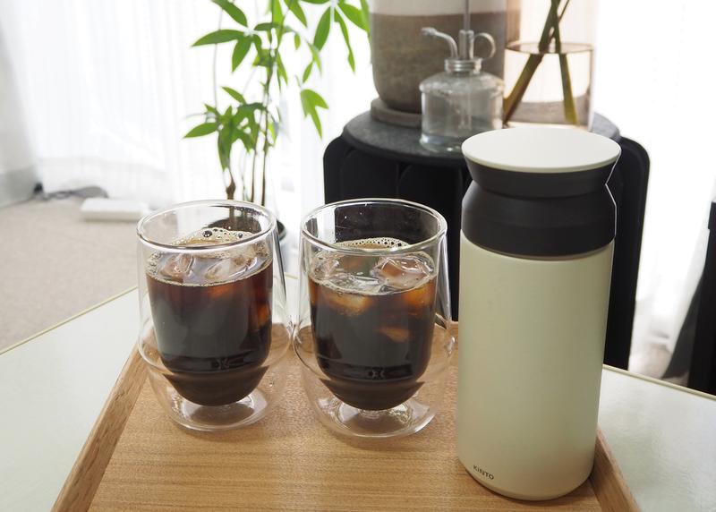 コーヒーとお気に入りのグラス