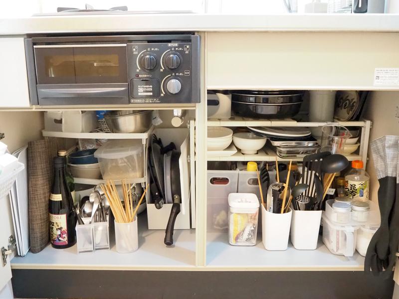キッチン下の収納スペース