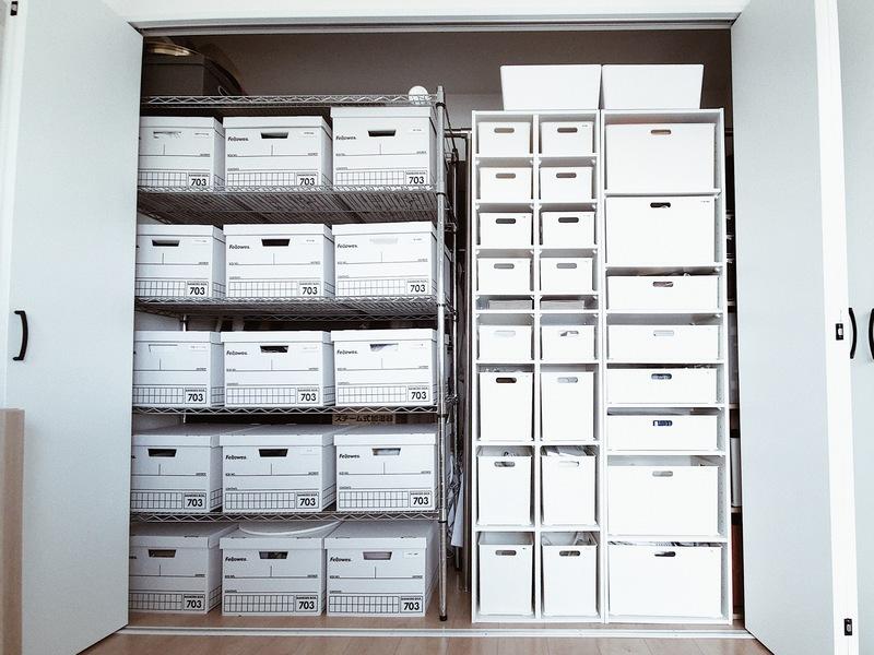 収納スペースを大限に活用するためボックス