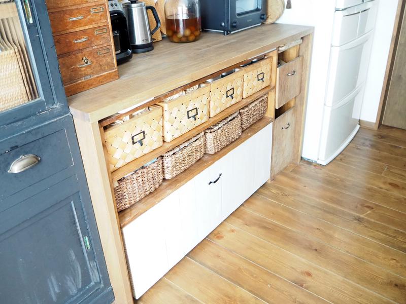 キッチンにある作業台