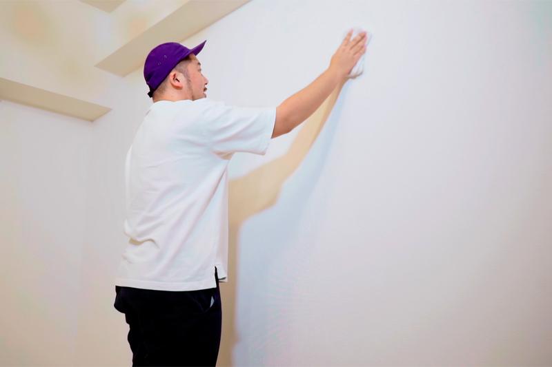 壁汚れの拭き掃除