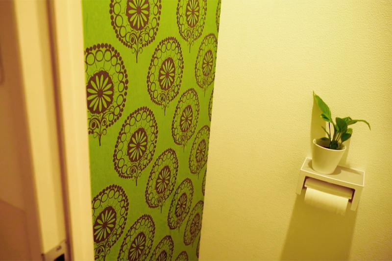 トイレ壁紙完成