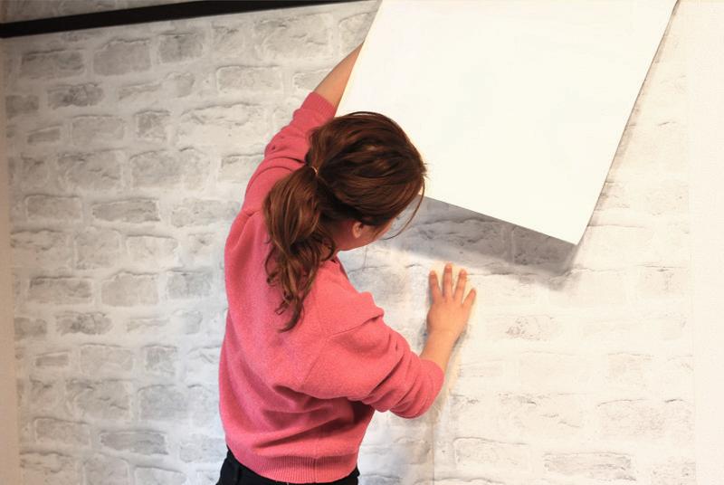 新しい壁紙を貼る