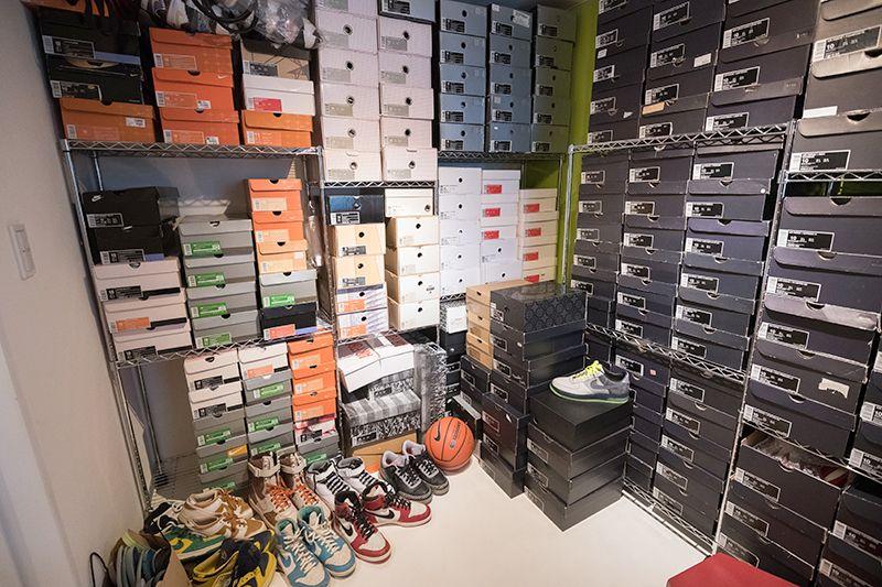 スニーカーコレクション部屋
