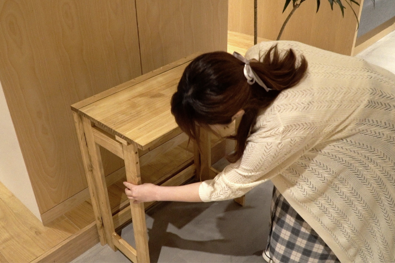 折りたたみテーブル実用例