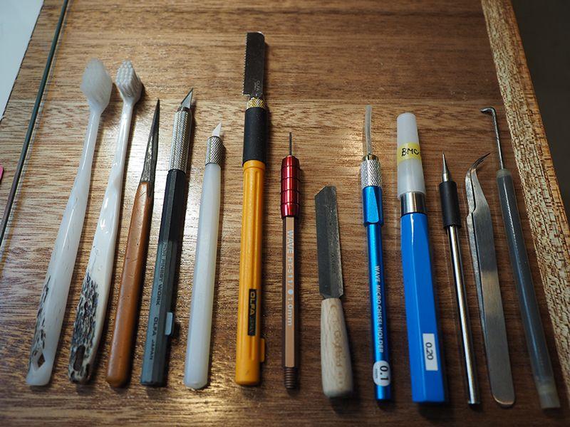 プラモデル作成の道具