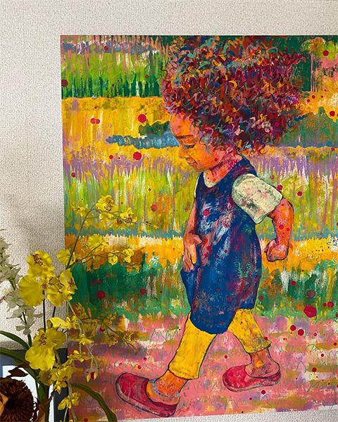 女の子の絵は大切な作品