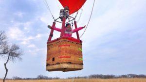 飛び立つ熱気球
