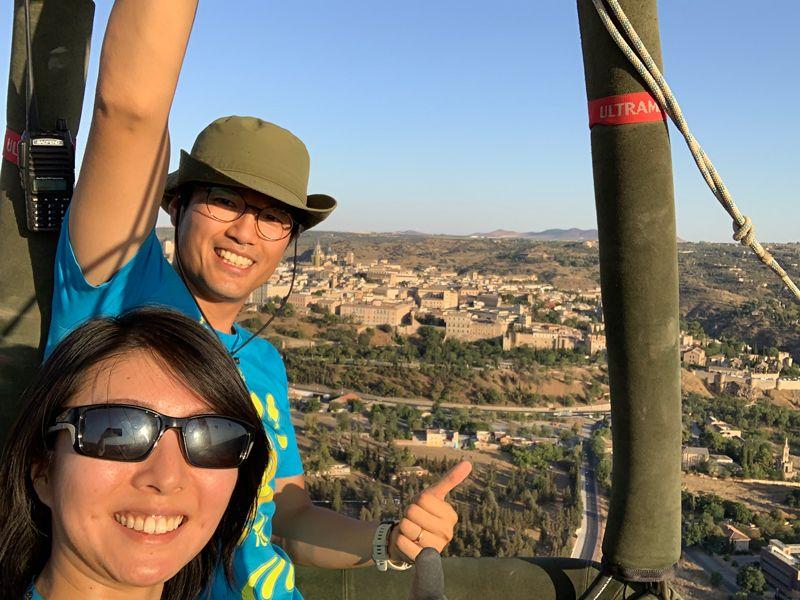 熱気球から見るスペインの街