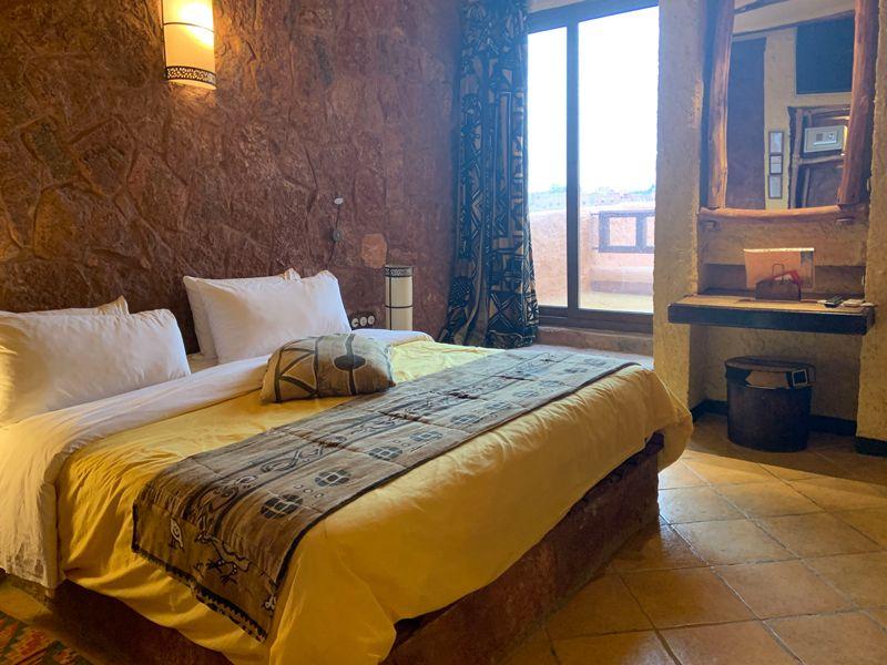 モロッコのホテルのベッドルーム
