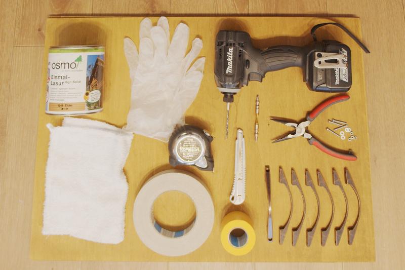 キッチン扉DIYで使用した材料