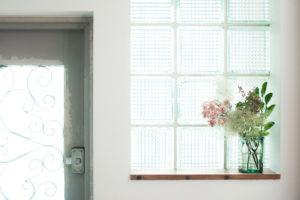 お気に入りのタイルガラスとお花
