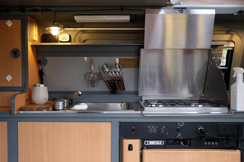 機能が充実したキッチン