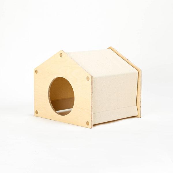 ナチュラルな猫用の組み立て式ペットハウス