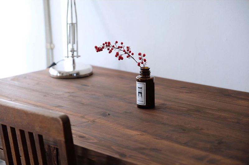 DIYしたテーブル