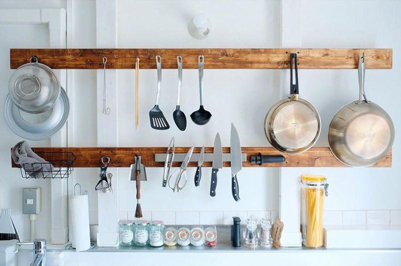 キッチン用品の壁面収納