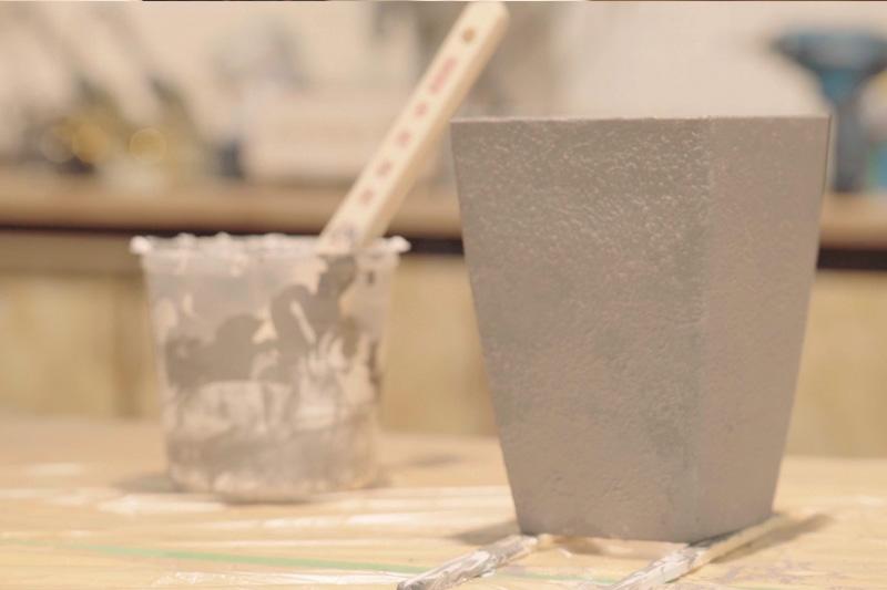 塗料を乾燥させる