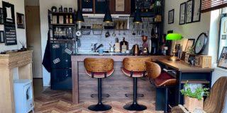 【こだわりの部屋づくりvol.33】カウンターでこだわりコーヒーを楽しむ!100円ショップのアイテムもフル活用した喫茶店風の部屋!(masaomi40さん)