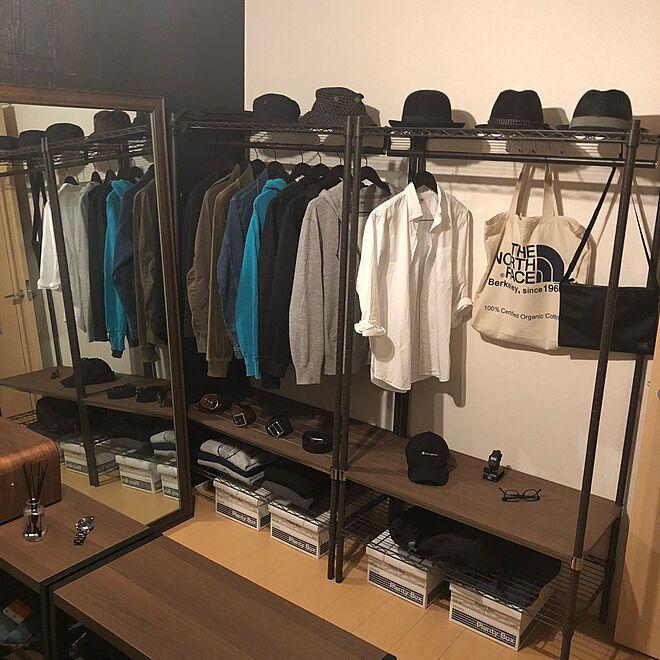アパレルショップ風の洋服収納
