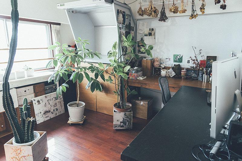 仕事用の作業スペース