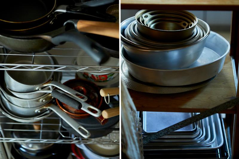 ハナコさんが旅する中で集めた調理道具や食器たち