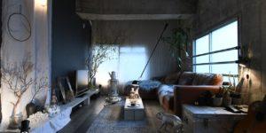 こだわりの部屋づくりvol.34|武骨さと甘さをミックス!余白と照明にこだわったマテリアルフェチの部屋(kosuke_yasumaさん)