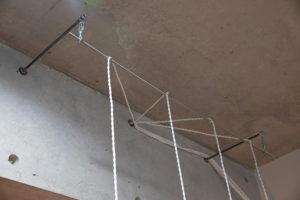 コンクリートコーンの穴を活用し照明DIY