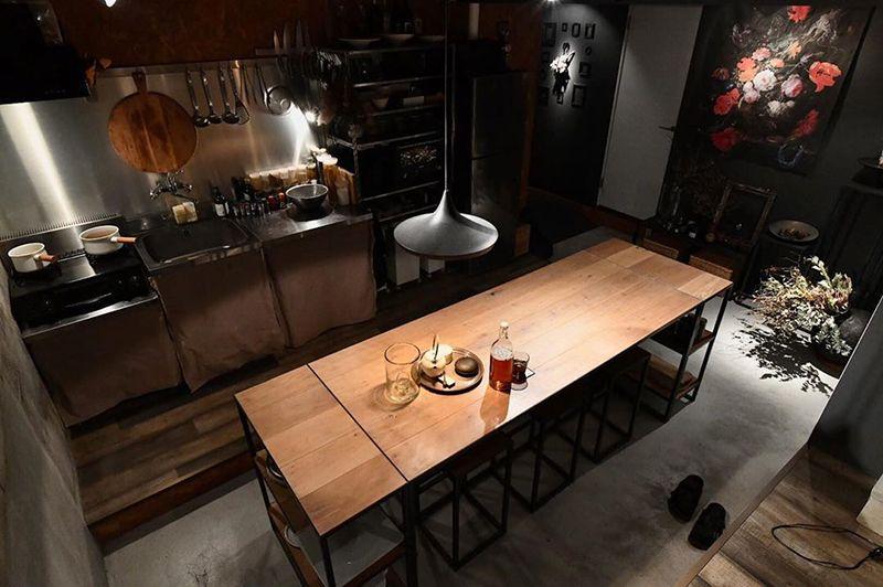 DIYしたダイニングテーブル