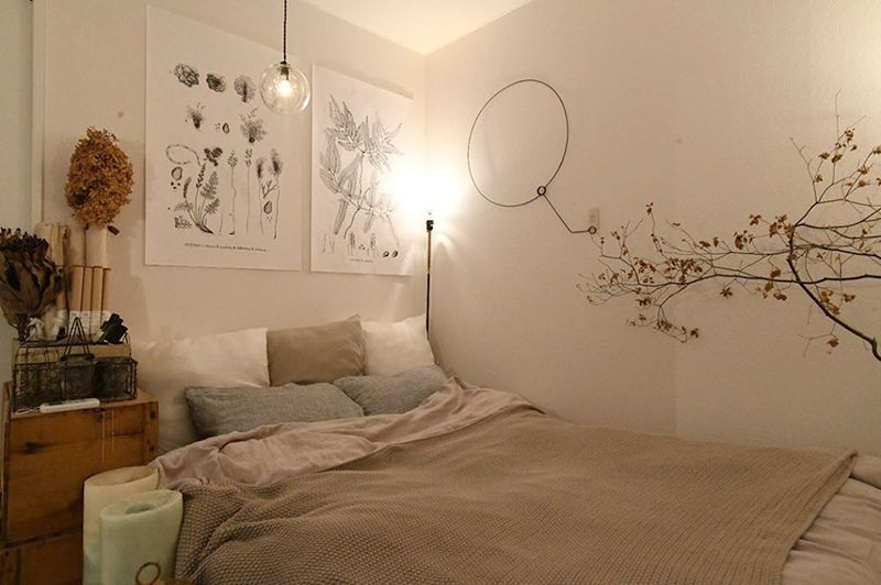 寝室は白を貴重としたやわらかい印象に