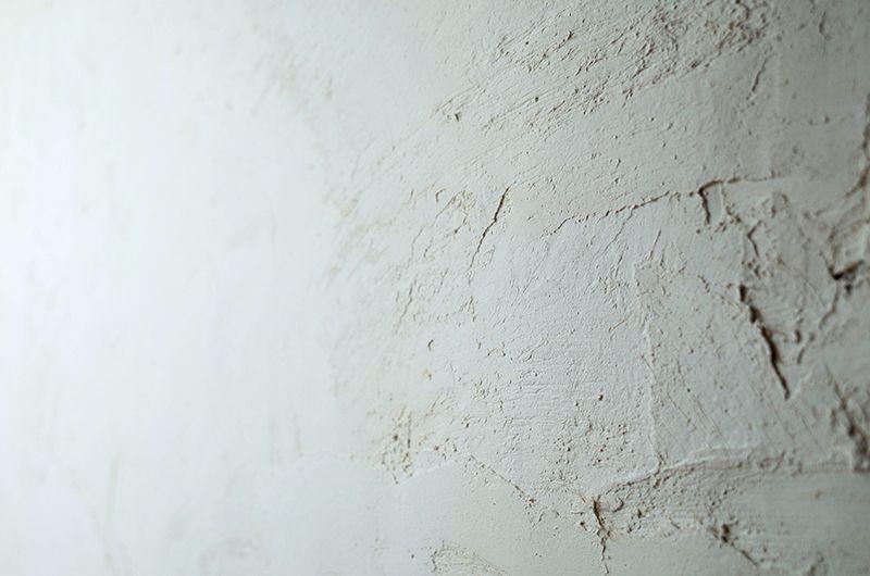 ご自身で塗った漆喰の壁