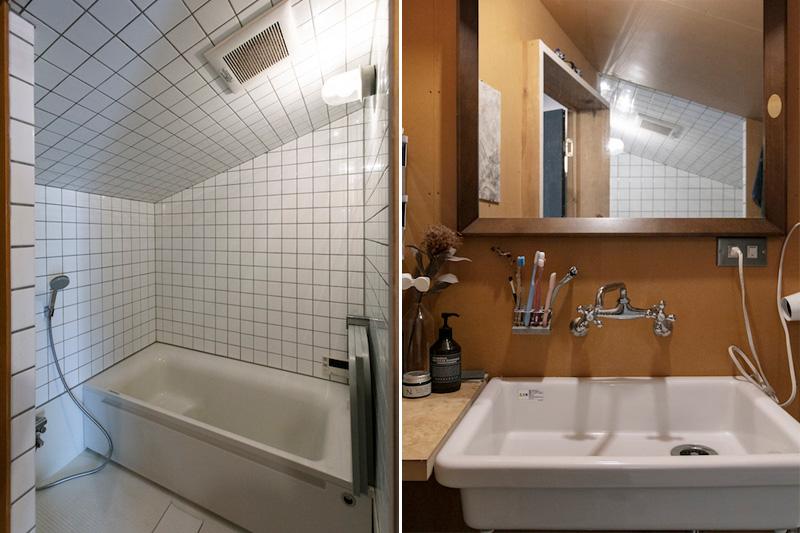 MDFを使った洗面スペース