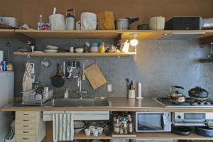 リノベーションで拡張したキッチン
