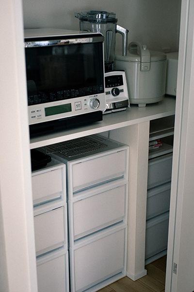 キッチン収納は統一感を出してすっきりと