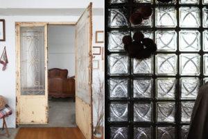 観音扉とステンドグラス